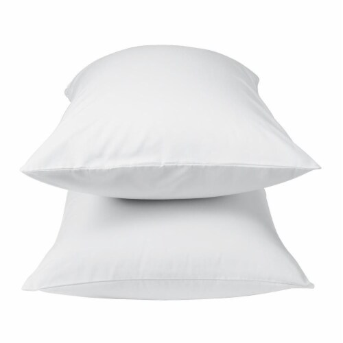 Wrinkle Free White Pillow Case Perspective: front