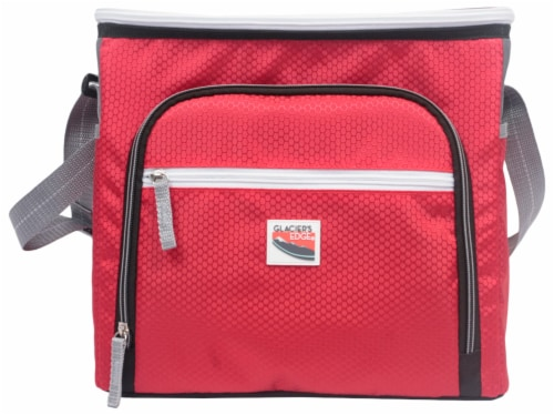 Glacier's Edge 24 Can Cooler - Red Perspective: front