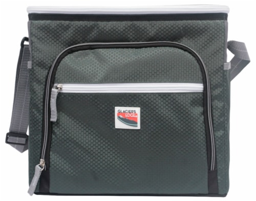 Glacier's Edge 12 Can Cooler - Green Perspective: front