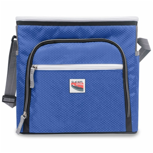 Glacier's Edge® 8-Can Cooler - Blue Perspective: front