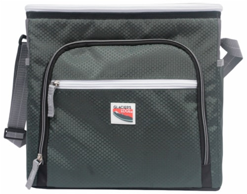 Glacier's Edge® 8 Can Cooler - Green Perspective: front