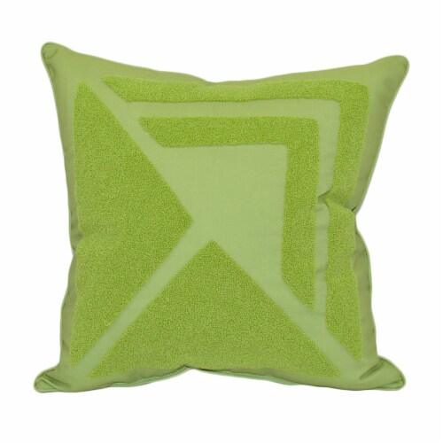 HD Designs Outdoors Colorblock Triangles Pillow - Citron Perspective: front