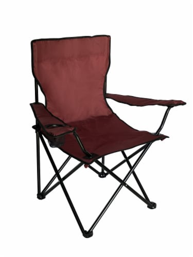 Glacier's Edge® Summit Chair - Maroon Perspective: front