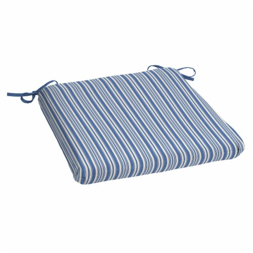 HD Designs Outdoors Seat Pad - Blue Stripe Perspective: front