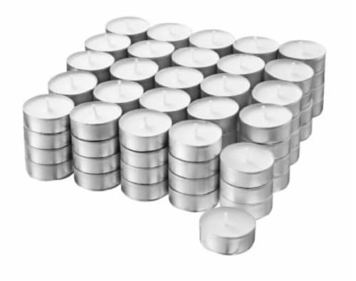 Everyday Living Unscented Tea Lights - White Perspective: front