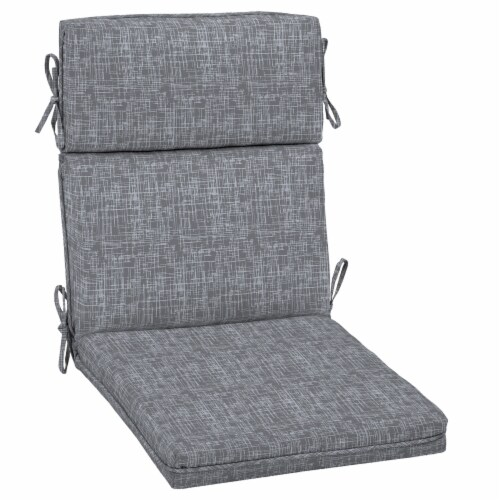 HD Designs Outdoors High Back Dining Chair Cushion - Gray Perspective: front