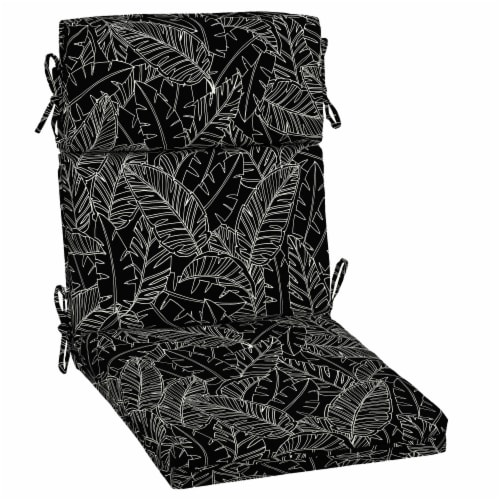 HD Designs Outdoors High Back Dining Chair - Black Leaves Perspective: front