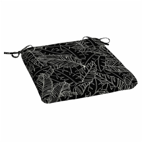 HD Designs Outdoors Seat Pad - Black Leaves Perspective: front