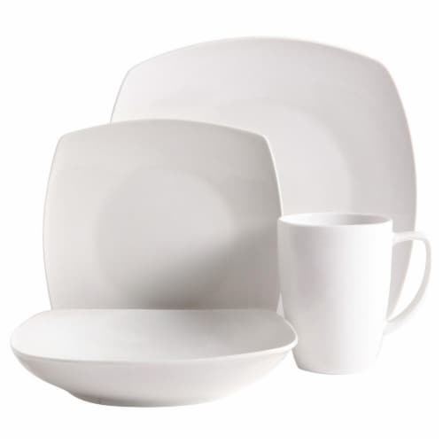 Chelsea Square 16 Piece White Dinnerware Set Perspective front  sc 1 st  Fred Meyer & Fred Meyer - Chelsea Square 16 Piece White Dinnerware Set