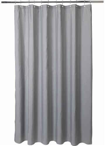 Everyday Living Microfiber Shower Liner - Gray Perspective: front