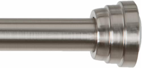 Everyday Living Decorative Tension Rod - Brushed Nickel Perspective: front