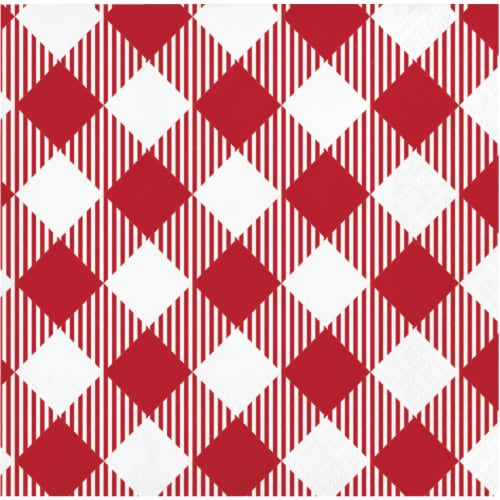 HD Designs Outdoors Hello Summer Beverage Napkins - Red/White Perspective: front