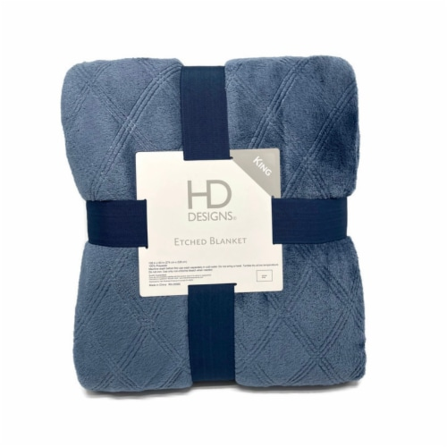 HD Designs® Etched Blanket - Blue Perspective: front