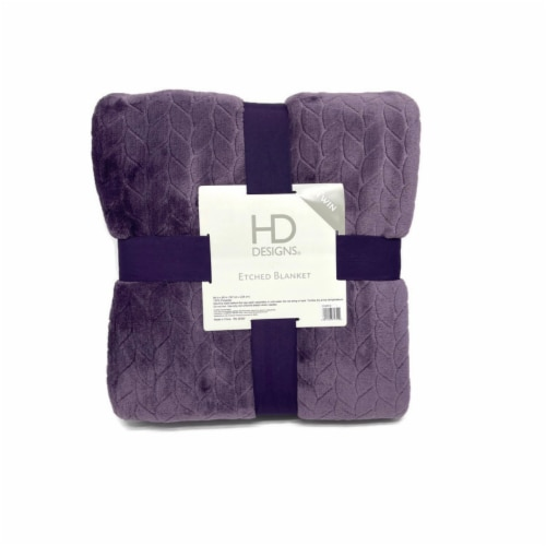 HD Designs Velvet Blanket - Purple Perspective: front