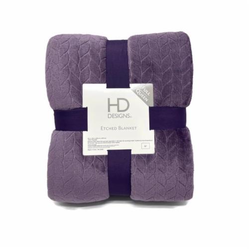 HD Designs Velvet Blanket - Purprle Perspective: front