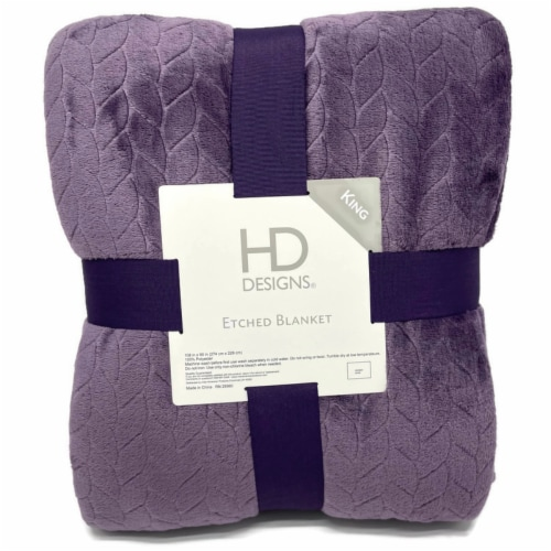 HD Designs® Etched Blanket - Purple Perspective: front