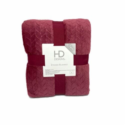 HD Designs Velvet Blanket - Red Perspective: front
