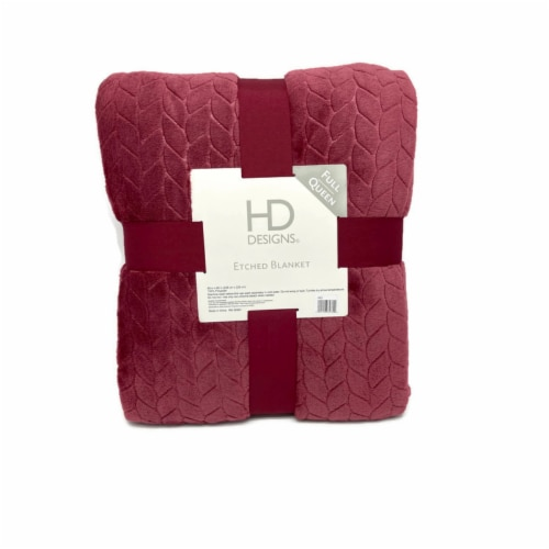 HD Designs® Velvet Etched Blanket - Red Perspective: front
