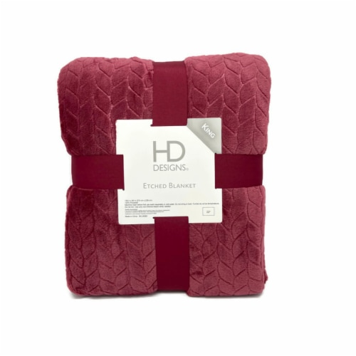 HD Designs® Etched Blanket - Red Perspective: front
