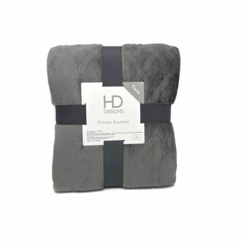 HD Designs Velvet Blanket - Grey Perspective: front