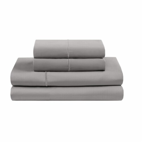 HD Designs Egyptian Cotton 500 Thread Count Sheet Set - 4 Piece - Gray Perspective: front