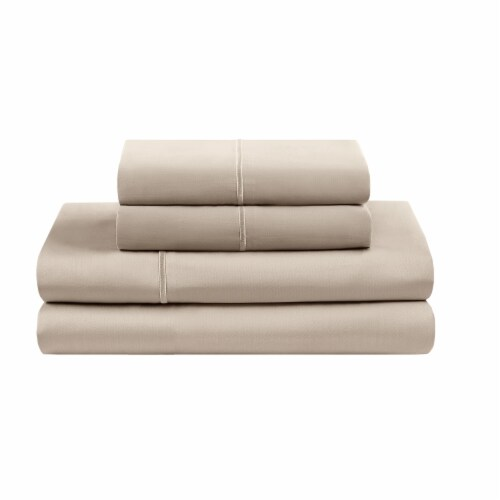 HD Designs Egyptian Cotton 500 Thread Count Sheet Set - 4 Piece - Beige Perspective: front