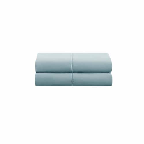 HD Designs Egyptian Cotton 500 Thread Count Pillow Cases - 2 Piece - Blue Perspective: front