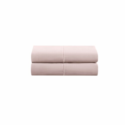 HD Designs Egyptian Cotton 500 Thread Count Pillow Cases - 2 Piece - Pink Perspective: front