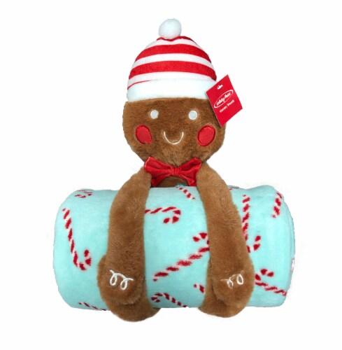Holiday Home® Gordie Gingercookie Blanket Buddies - Pecan Brown Perspective: front