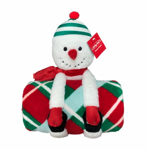 Holiday Home® Blanket Buddies - Frostman Bright White Perspective: front