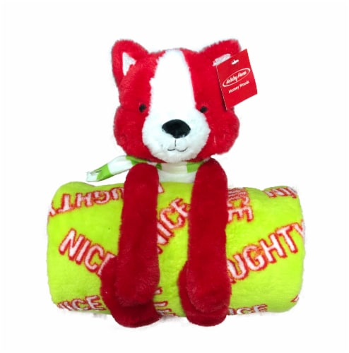 Holiday Home Blanket Buddies - Foxy Frances Lollipop Perspective: front