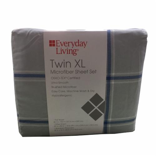 Everyday Living® Jasper Plaid Microfiber Sheet Set Perspective: front