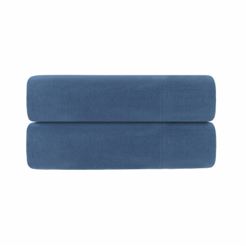 Everyday Living Jersey Pillowcases - Coronet Blue Perspective: front
