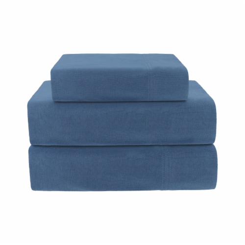 Everyday Living Jersey Sheet Set - Coronet Blue Perspective: front