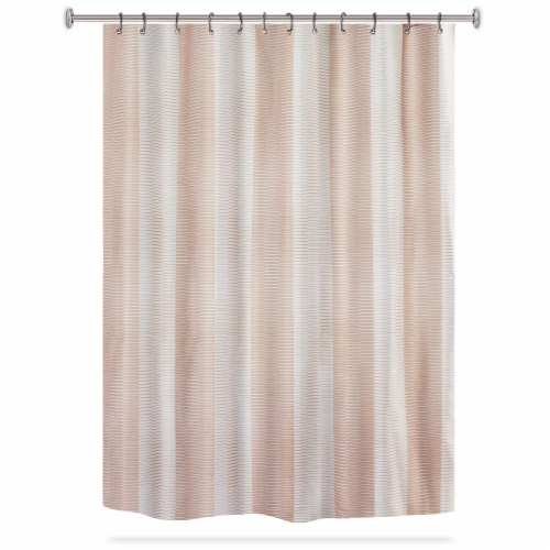 HD Designs Gleam Fabric Shower Curtain - Blush Perspective: front