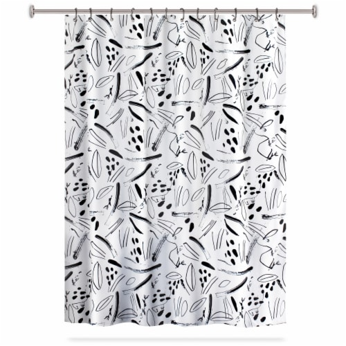 HD Designs Sticks and Stones Polyester Fabric Shower Curtain Perspective: front