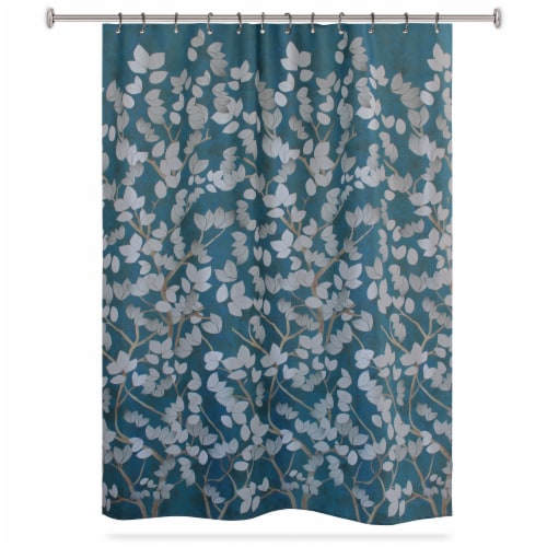 HD Designs Ofura Polyester Fabric Shower Curtain Perspective: front