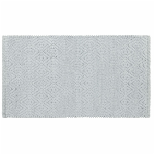 Dip Impressions Bath Rug - Pearl Blue Perspective: front