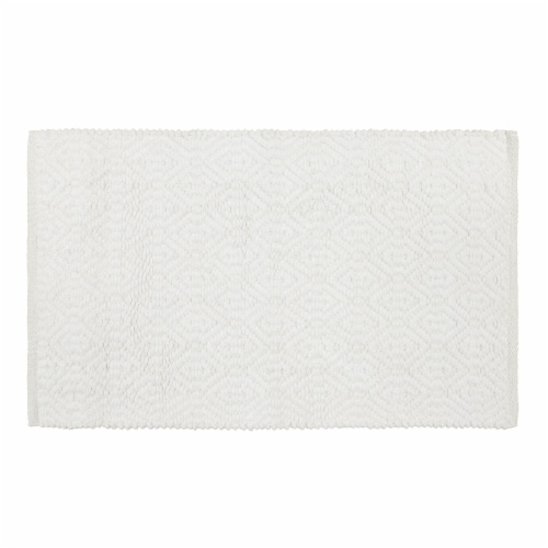 Dip Impressions Bath Rug - Bright White Perspective: front