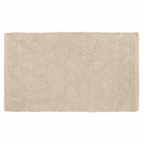 Dip Impressions Bath Rug - Chateau Gray Perspective: front