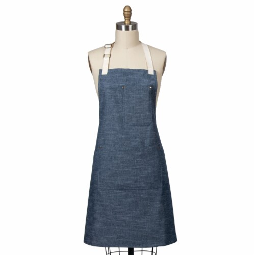 Dash of That Chambray Chef Apron - Navy Perspective: front