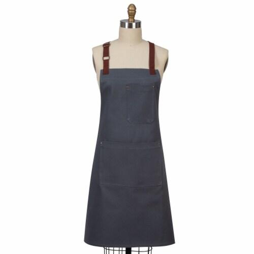 Dash of That Cotton Chef Apron - Gray Perspective: front