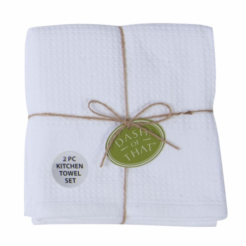 Dash of That™ Cotton Kitchen Towels - White Perspective: front