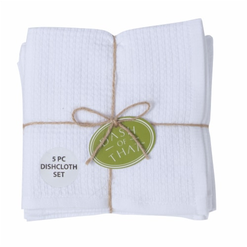 Dash of That Cotton Dishcloths - White Perspective: front