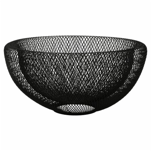 Dip Metal Double Mesh Bowl - Black Perspective: front