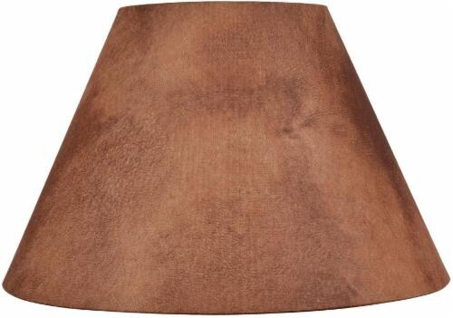 HD Designs® Faux Leather Hardback Lamp Shade - Brown Perspective: front