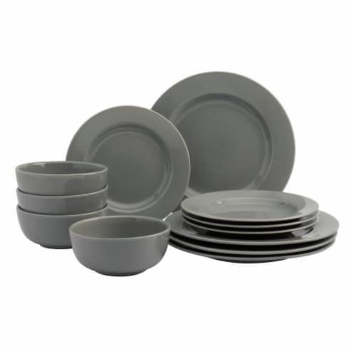 Dash of That Amalfi Dinnerware Set - Smoke Gray Perspective: front