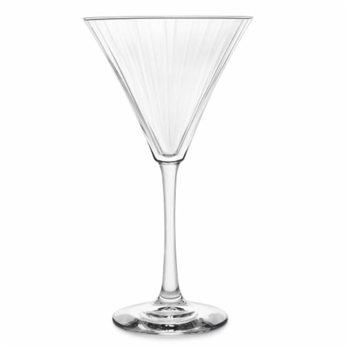Dip Paneled Martini Glass Perspective: front