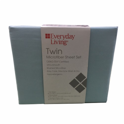 Everyday Living® Winter Sky Twin Microfiber Sheet Set Perspective: front