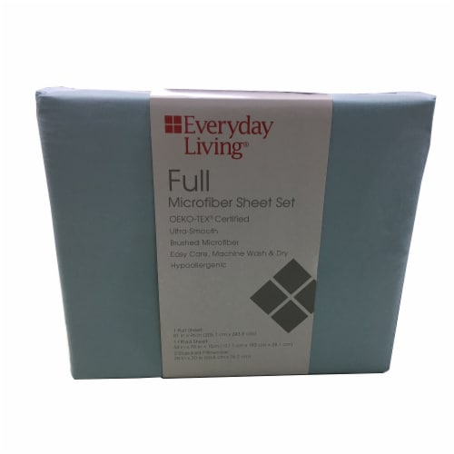 Everyday Living® Winter Sky Full Microfiber Sheet Set Perspective: front